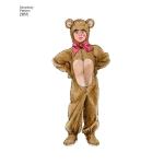 Laste, poiste ja tüdrukute kostüümid, suurused: A (XS,S,M,L), Simplicity Pattern #2855