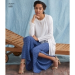 Naiste ja pluss suurusegaNaiste püksid, tuunika või topp ja kootud kardigan, Simplicity Pattern # 8393