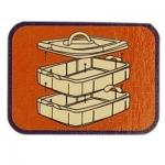 Stackable storage box es, 3 levels, 15,5 x 15,5 x 13 cm, bright blue, KL1425