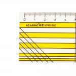 Пластикожая (3 мм) линейка 5 см х 15 см, Kearing KPR5150