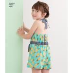 Laste ja tüdrukute päitsekleit või -riie kahes pikkuses, Simplicity Pattern # 8395