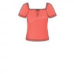 Naiste trikoo-topid, suurused: XXS-XS-S-M-L-XL-XXL, Simplicity Pattern #S8919