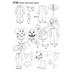 Mudilaste kostüümid, suurused: A (1/2,1,2,3,4), Simplicity Pattern #2788
