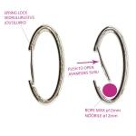 Swivel hook; swivel latch; swivel ring; snap hook, key clasp, 65 x 30 mm, hole for ribbon 12mm, SHX1B