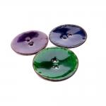 Naturaalsed kookosnööbid, värvilise glasuuriga 45mm, 70L