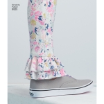 Laste ja tüdrukute trikooretuusid, suurused: HH (3-4-5-6), Simplicity Pattern # 8525