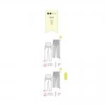 Püksid suurustele Nr.34-46, Burda Style Nr.7165