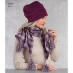 Naiste külma ilma aksessuaarid, suurused: A (kõik suurused), Simplicity Pattern #8812