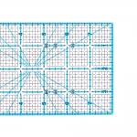 Tollmõõdustikus joonlaud, 4` x 8` Inch Scale Quilting Ruler with 1/8` grid, Le Summit 34148