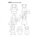 Laste ja tüdrukute kleit, Simplicity Pattern #S8853