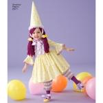 Mudilaste kostüümid, suurused: A 1/2 1 2 3 4, Simplicity Pattern #2571