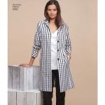 Naiste kleit, tuunika, kitsad püksid ja sirgelõikeline mantel, Simplicity Pattern #8302