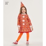 Lastekostüümid, suurused: A (3-4-5-6-7-8), Simplicity Pattern #8726