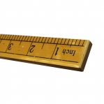Plastic Ruler with metric and inch scale, 100 cm; 40` inch