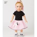 Vintage inspireeritud 45cm pikkuse nuku riided, (Ühes mõõdus), Simplicity Pattern #8072