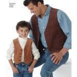 Poiste ja meeste vestid ja lipsud, suurused: A (S M L/S M L XL), Simplicity Pattern #4762