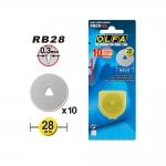 Vaihtoterät pyöröleikkureille; 10 kpl, ø28 mm, OLFA (Japani), RB28-10