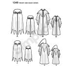 Poiste ja Meeste klassikalised keebid,, suurused: A (S - L / S - XL), Simplicity Pattern #1349