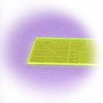 Läpinäkyvä neonkeltainen viivain, 5 cm x 15 cm, LeSummit QR-0515F