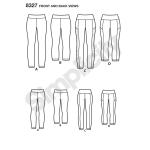 Naiste trikoodressid pikkusvariatsioonidega, suurused: A (1X-5X), Simplicity Pattern #8327