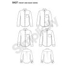 Meeste fit-särk krae ja manseti variatsioonidega, autor Mimi G, Simplicity Pattern # 8427