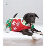 Fliisist mantel koerale ja mütsid kolmes mõõdus, suurused: A (S-M-L), Simplicity Pattern #8277