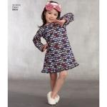 Laste kleit, topp püksid, Eye Mask ja Slippers, suurused: A (3-4-5-6-7-8), Simplicity Pattern #8806