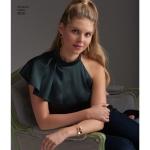 Naiste ja petit-naiste varrukavariatsioonidega topid, Simplicity Pattern # 8512
