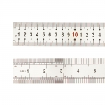 Stainless Steel Ruler with metric and inch scale, 100 cm/40` inch