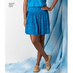 Women`s knit or Woven Skirts, Simplicity Pattern #1616