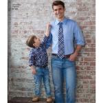 Poiste ja meeste särk, bokserid, shortsid ja lips, suurused: A (S - L / S - XL), Simplicity Pattern #8180