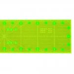 Läpinäkyvä neonkeltainen viivain, 10cm x 45cm, Le Summit LS-1045F