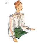 Women`s Vintage Blouses, Simplicity Pattern #8736