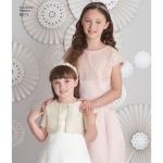 Laste ja tüdrukute kleit ja jakk, Simplicity Pattern #8271