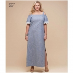 Women`s Dress and Tops, Simplicity Pattern #8296