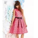 Tüdrukute ja tüdrukute pluss-suurustele kleidid ja trikoo-pooltopp, Simplicity Pattern #1213
