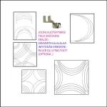 Šabloon-joonlaud vabakäe-teppimiseks, 14,6 cm × 14,6 cm Yütien Design HCIR4