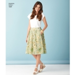 Women`s Skirts kolmes pikkuses, Simplicity Pattern #1369