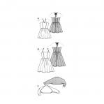 Kleit & bolero 146 - 176cm, Dress& Bolero Burda 9499