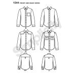 Meeste särk kangavariatsioonidega suurused: Simplicity Pattern #1544