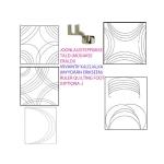 Clear View quilting foot ruler, 22,8 cm × 11,4 cm Yütien Design OVLF4