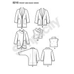 Women`s Easy-to-Sew Jackets and Vest, Sizes: A (XS-S-M-L-XL), Simplicity Pattern #8218