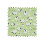 Fabric Covered Sewing Basket Sheep, (d/w/h): 24 x 16 x 11 cm, Hobby Gift MRSRF.438