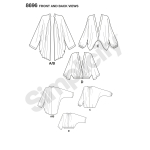 Women`s kimono with Length Variations, Sizes: A (XS-S-M-L-XL), Simplicity Pattern #8696