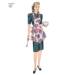 Naiste vintage põlled, suurused: A (S-M-L), Simplicity Pattern #1221