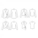 Naiste hõlmikkardigan variatsioonidega, suurused: XXS-XS-S-M-L-XL-XXL, Simplicity Pattern #S8954