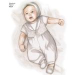 Väikelaste ristimisriided koos kapotitega, suurused: A (XXS-XS-S-M), Simplicity Pattern #8024