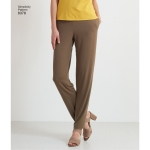 Naiste trikoopüksid, millel on kaks säärelaiust ja disainiga häkkimise võimalused, suurused: A (XXS-XS-S-M-L-XL-XXL), Simplicity Pattern # 8378