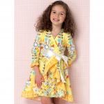 Girls` Dresses and Sash, Kwik Sew K0199
