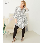 Plus Size Tunic, Top, kimono and knit Leggings, Simplicity Pattern #8097